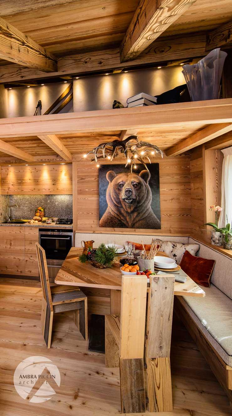 Case di montagna falegnameria lorenzi cortina d 39 ampezzo for Immagini di interni di case