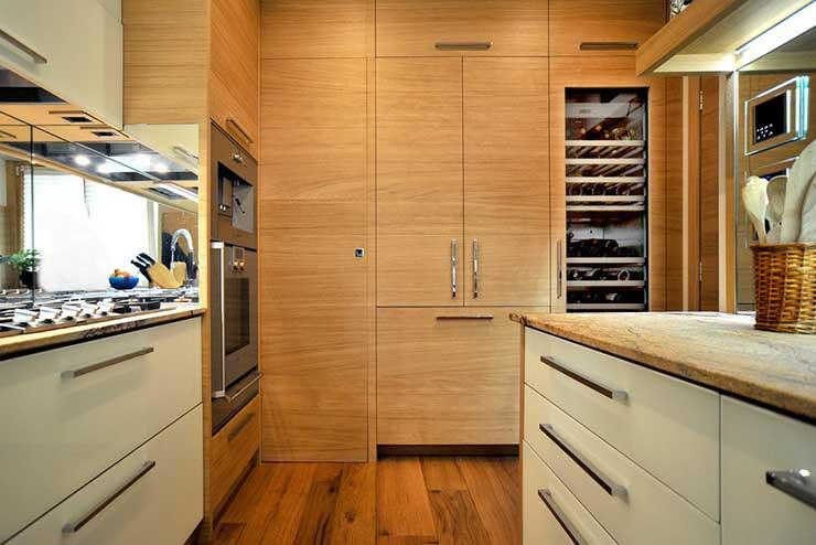 Cucina in rovere moderna